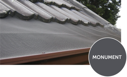 Monument mesh Metal Tile roof