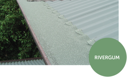 River gum mesh on Corrugated Iron roof